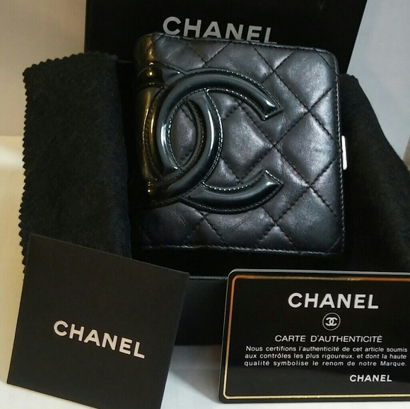 CHANEL Handbags - Authentic Chanel Cambon Quilted Wallet Black